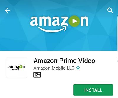 Amazon Prime Video App in Google Play