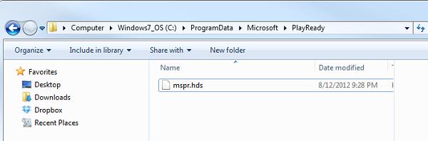 Find mspr.hds Files
