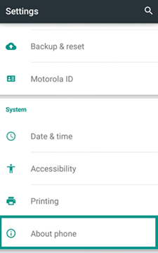 Enter Settings to Check Android Phone