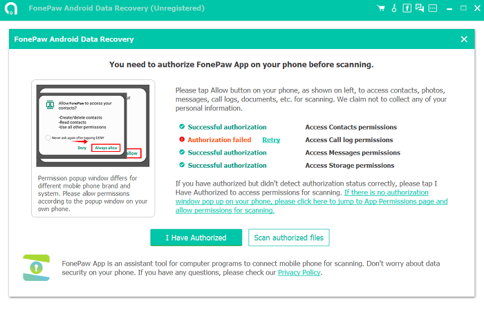 Allow to Scan Deleted Contacts