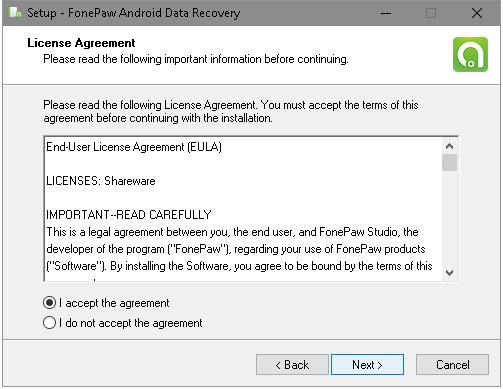 License Agreement of FonePaw