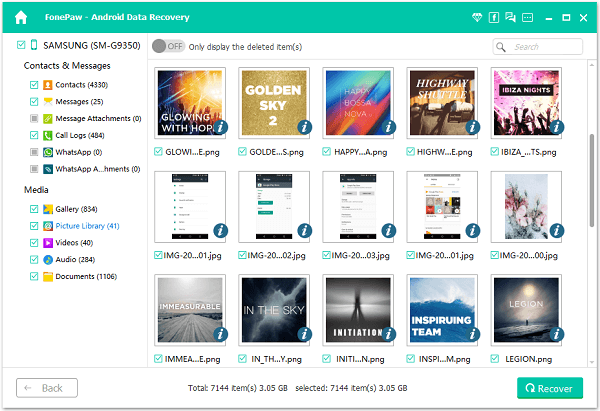 Recover Images from Android