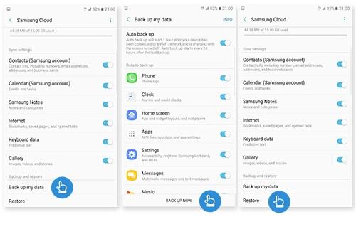 Restore on Samsung Cloud