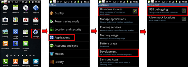 Enable USB Debugging on Android 2.3
