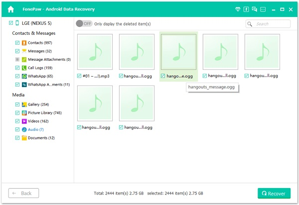 Extract Hangouts Audio Messages