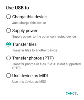 Use USB to Transfer Files