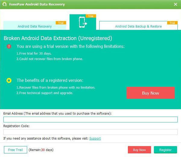 Register Broken Android Data Extraction