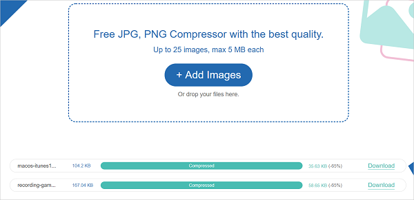Compress JPEG Image