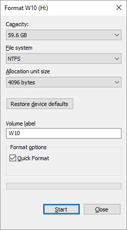 Format SD Card on Windows