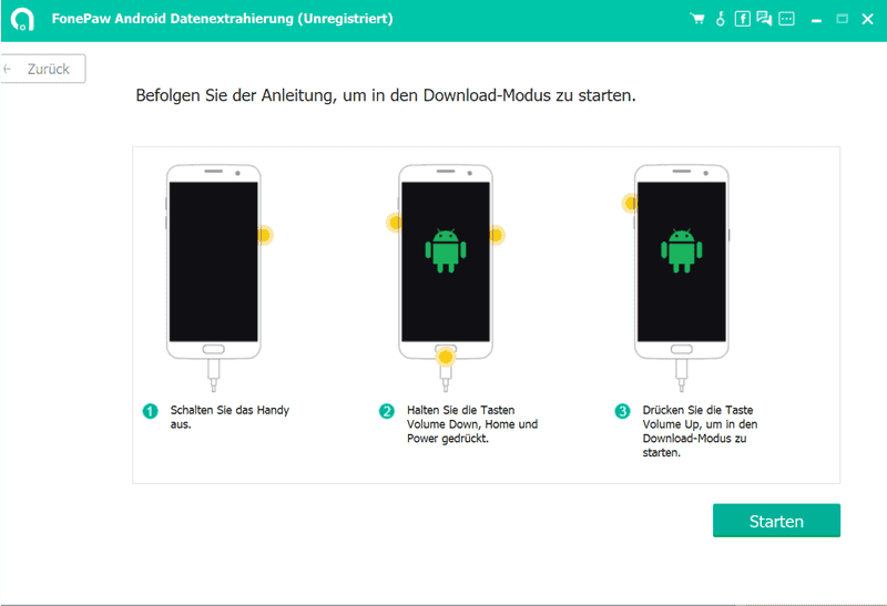 Kaputtes Handy in Download-Modus versetzen