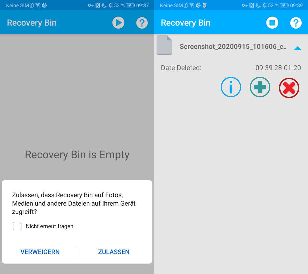 Android Papierkorb App Recycle Bin