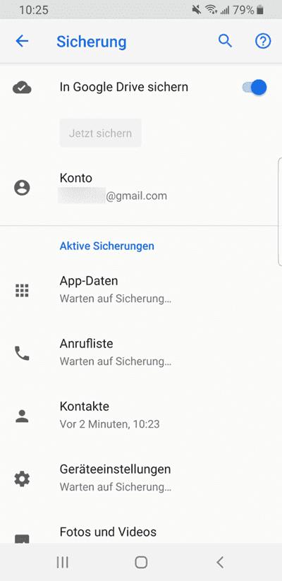 Android SMS wiederherstellen von Google Drive
