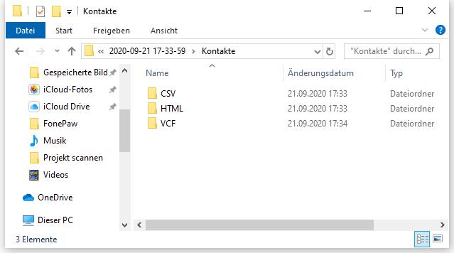 Samsung Kontakte exportieren als CSV HTML VCF