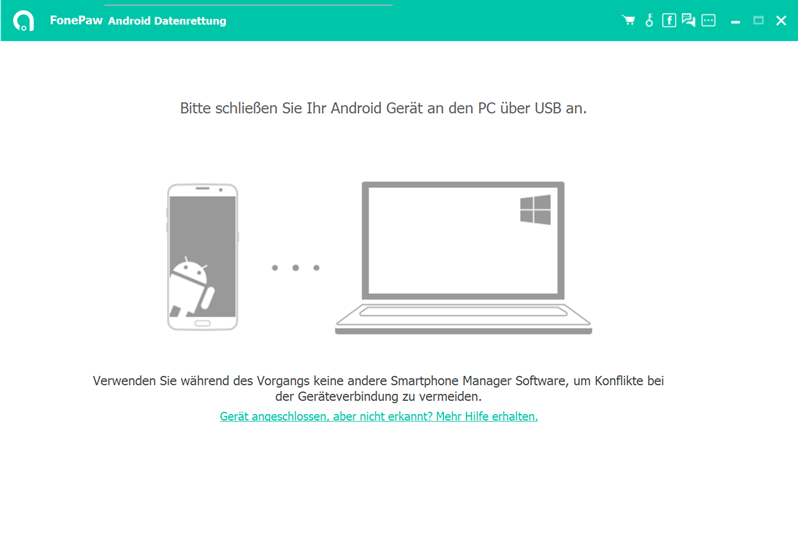 FonePaw Android Datenrettung starten
