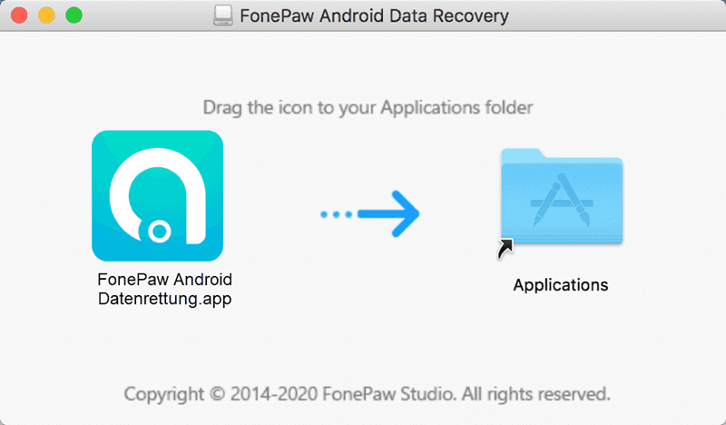 FonePaw Mac Setup-Assistent