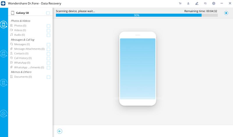 Samsung gelöschte Dateien wiederherstellen mit Wondershare Dr.Fone