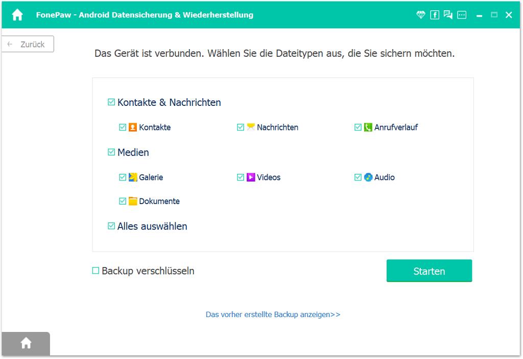 Android Bilder backup