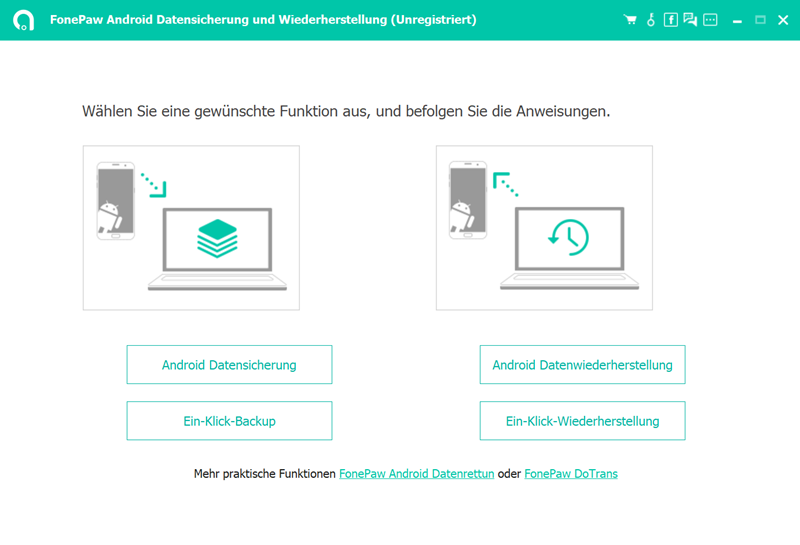 Android Backup Software für PC