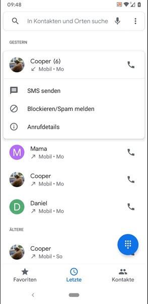 Anrufverlauf anzeigen Android