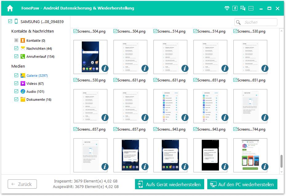 Samsung Backup wiederherstellen