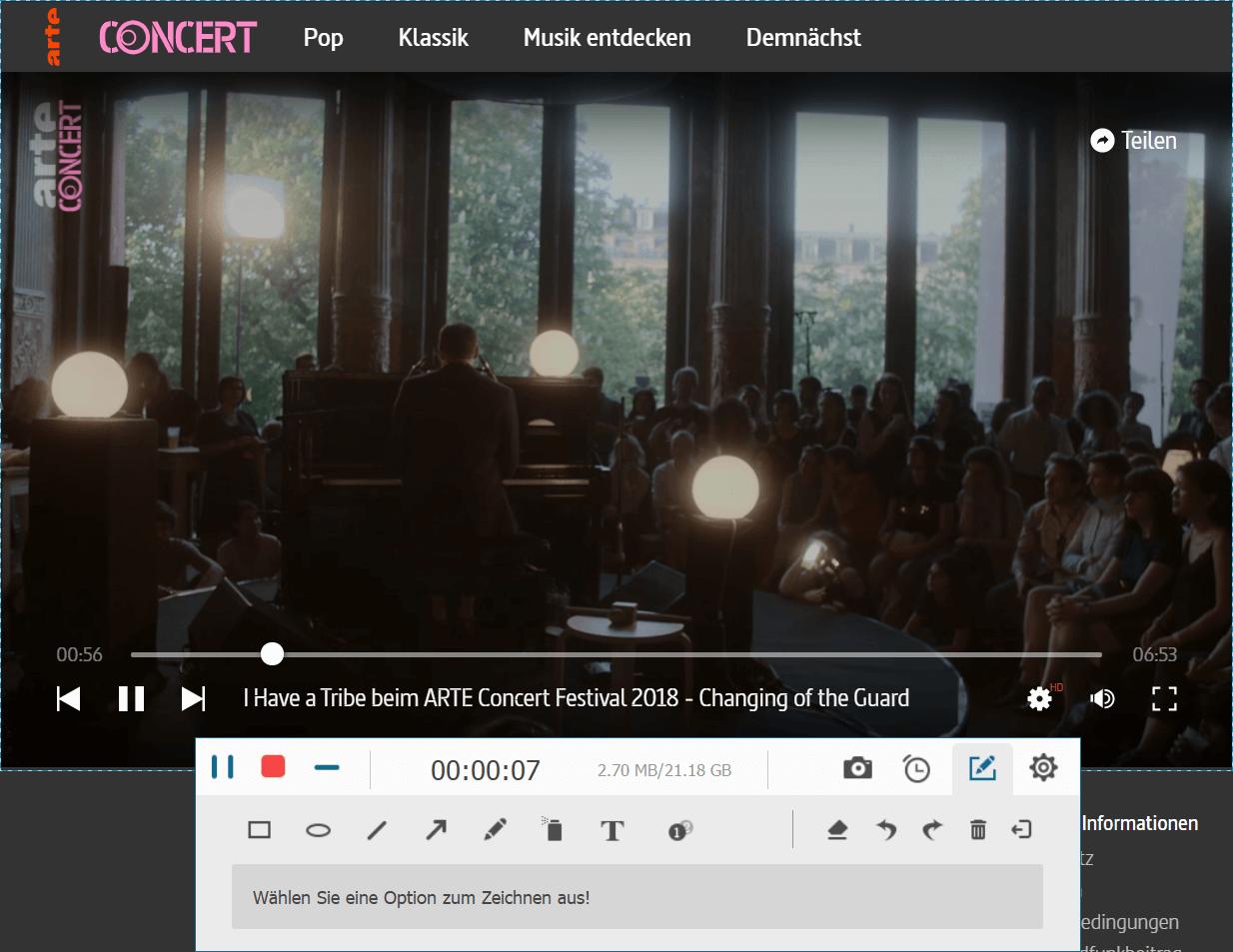 ARTE-Mediathek und -Livestream aufnehmen auf PC, Android
