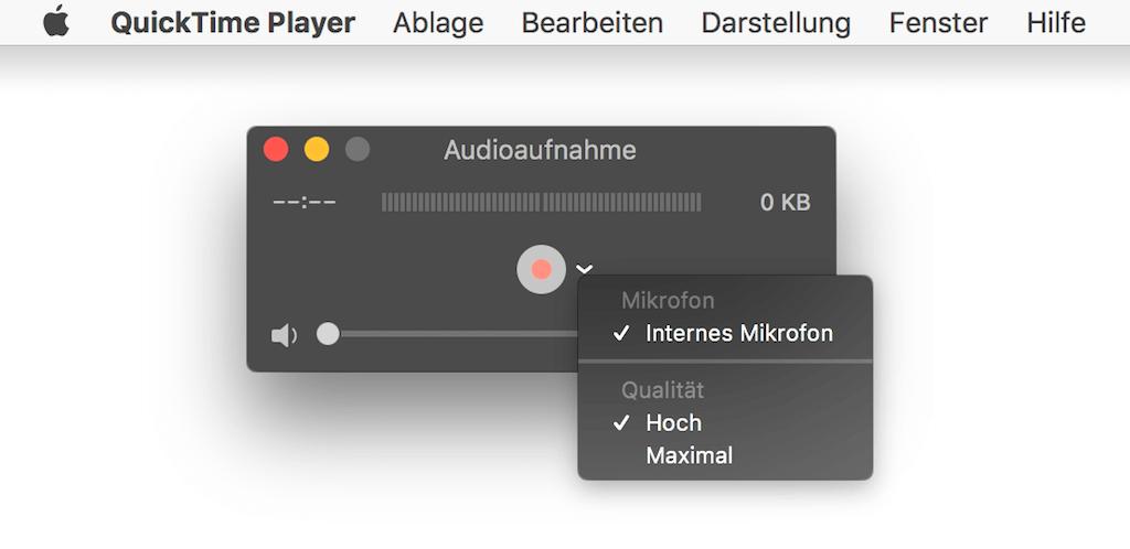 Mac Audioaufnahme einstellen