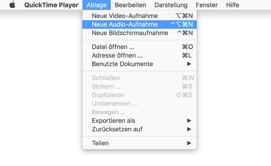 Mac Audio aufnehmen