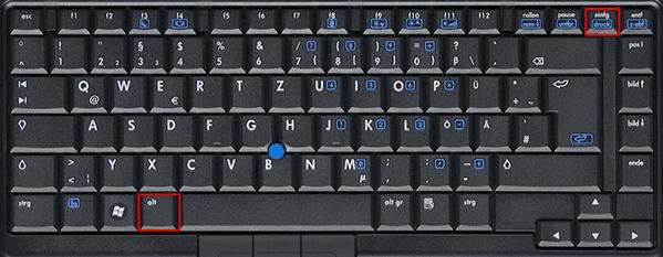 HP Screenshot Shortcut Alt+Druck