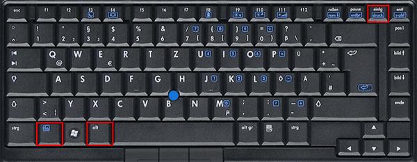 HP Screenshot Shortcut Fn+Alt+Druck