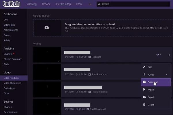 Twitch Broadcasts downloaden