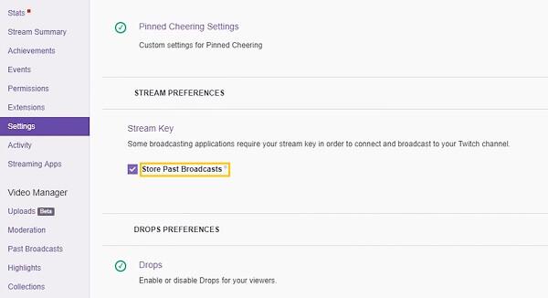 Twitch Broadcasts speichern
