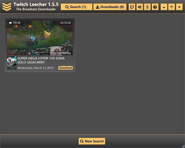 Twitch-Video mit Twitch Leercher downloaden