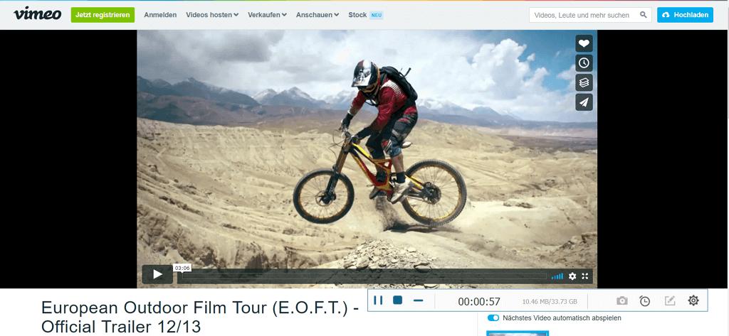 Vimeo Video in MP4 aufnehmen und speichern