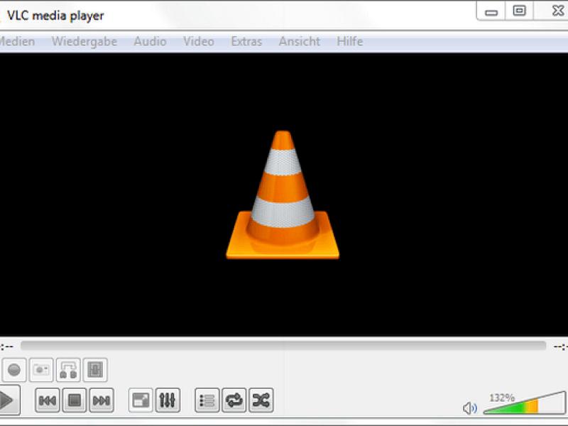 Hauptoberfläche von VLC