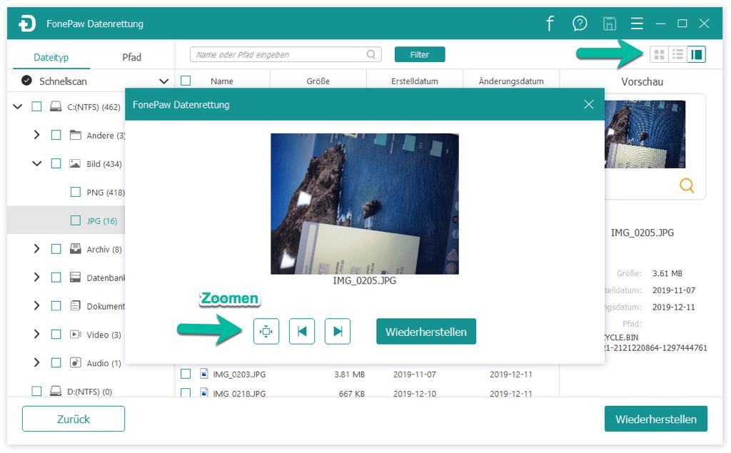 Datei in Vorschau anzeigen