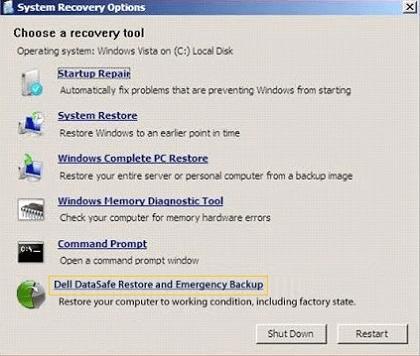 Dell DataSave wiederherstellen und Backup