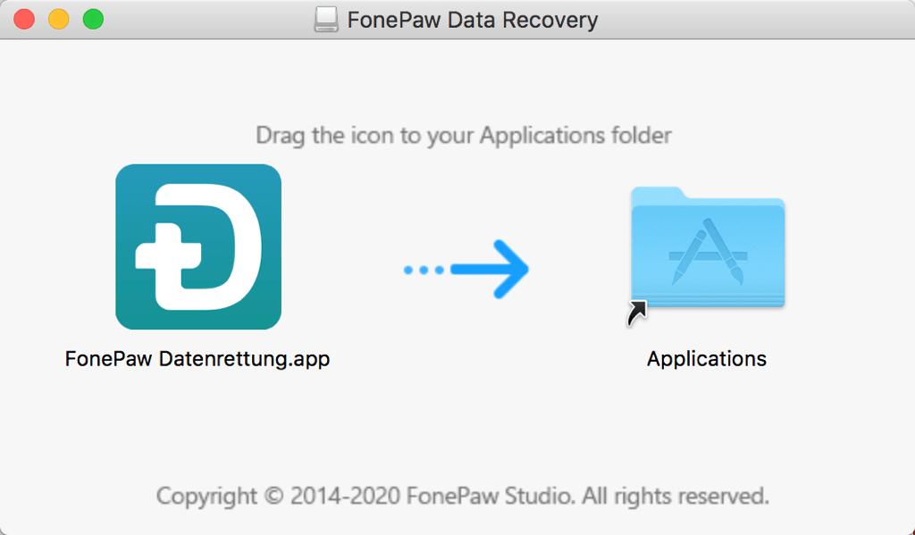 FonePaw Datenrettung installieren auf Mac