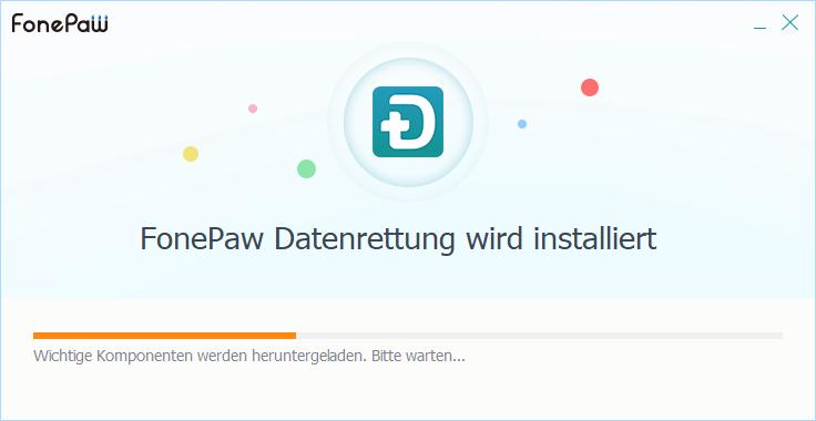 FonePaw Datenrettung installieren