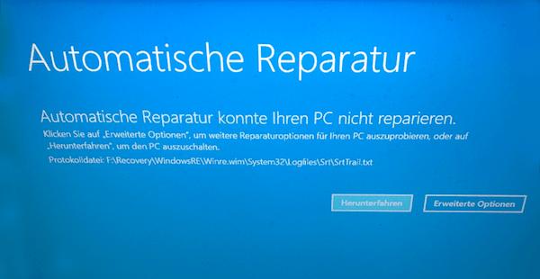 Automatisch Reparatur konnte Ihr PC nicht reparieren Windows 10