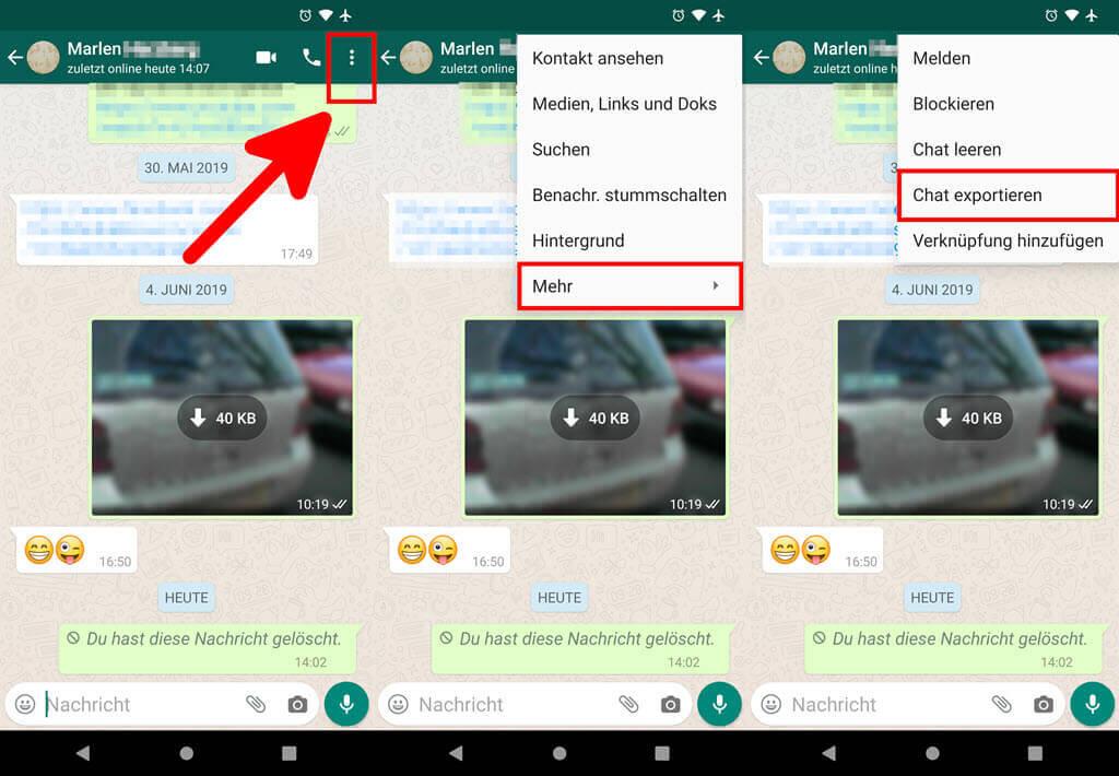 Android chats löschen whatsapp archivierte WhatsApp archivierte