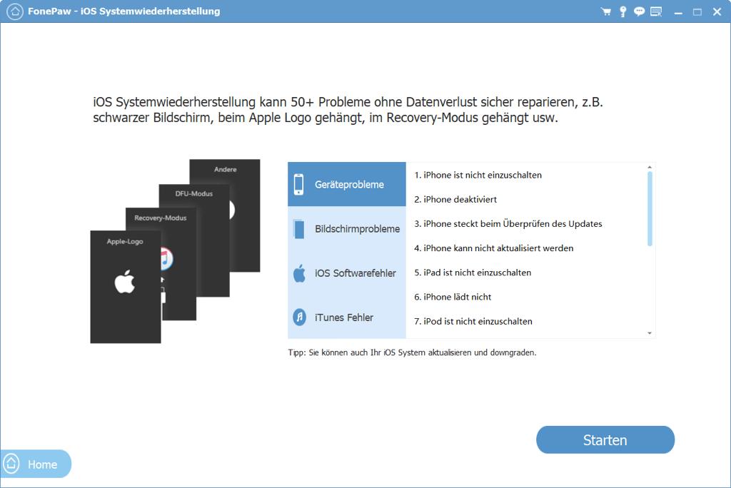 FonePaw iOS Systemwiederherstellung