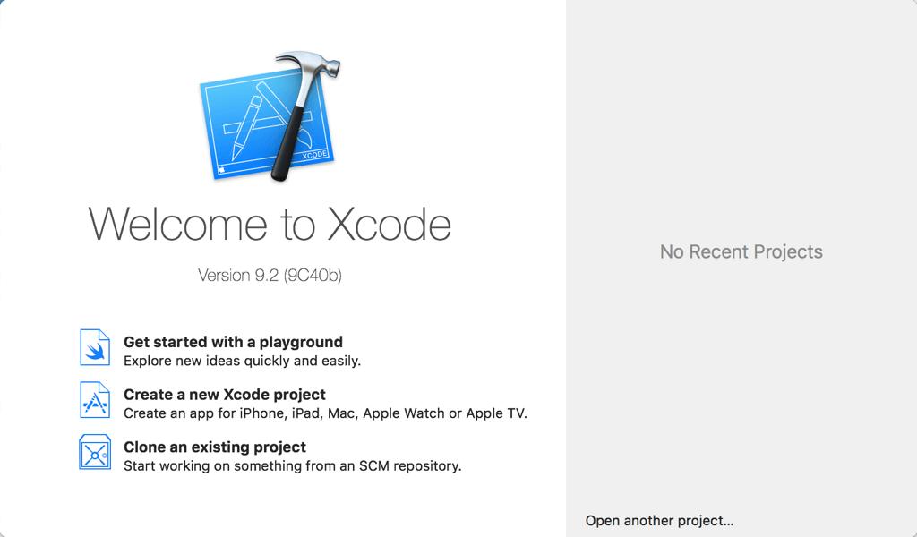 Willkomen bei Xcode