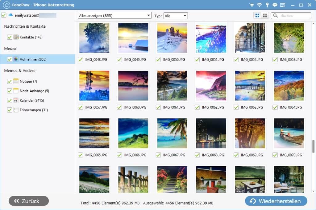 iCloud Fotos ansehen auf PC