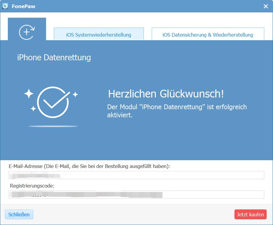 FonePaw Software registrieren