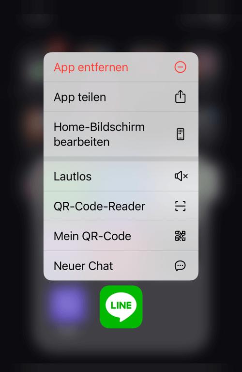 Line App löschen auf iPhone
