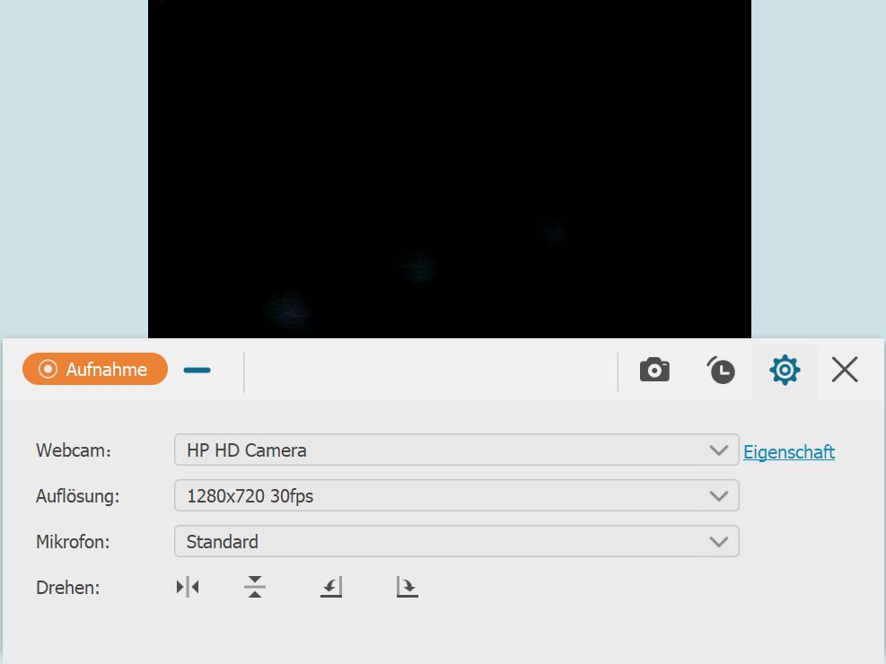 Webcam aufnehmen