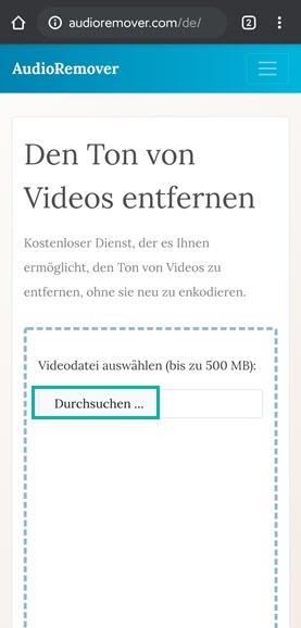 Video Ton entfernen Audioremover