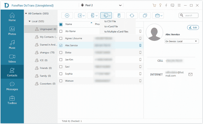 Contacts on DoTrans