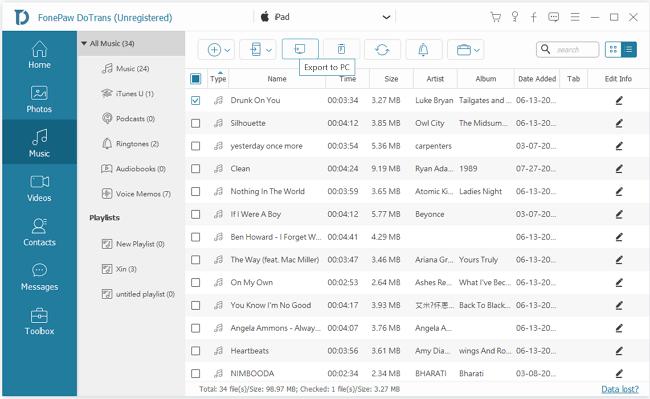 Export iPhone Music Files