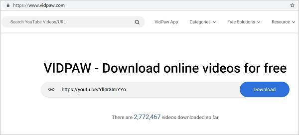 VidPaw Homepage